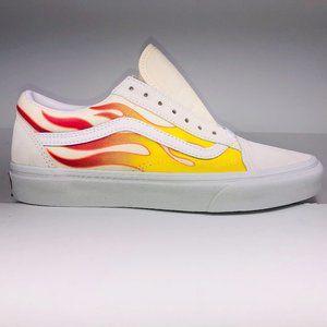 VANS Old Skool Flame True White Multicolor Sneaker